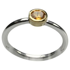 Feiner 925er Silberring mit Mandarin Granat – Bild 1