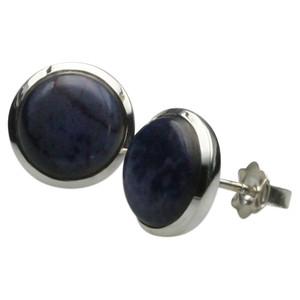 Besondere Ohrstecker aus 925er Silber mit rundem Sugilith – Bild 1