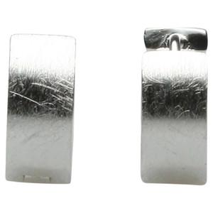 Edle gebürstete Klappcreolen aus 925er Silber – Bild 2