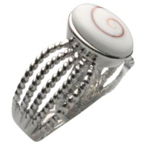 Feiner 925er Silberring mit schöner Muschel – Bild 1