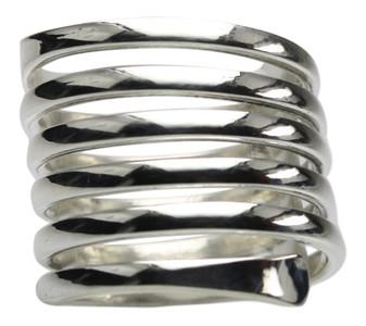 Feiner Spiralring aus 925er Sterlingsilber – Bild 1