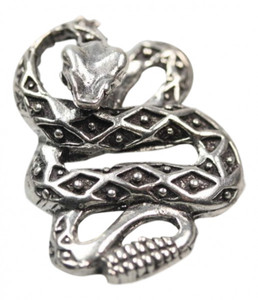 Massiver 925er Schlangenanhänger Kobra – Bild 1