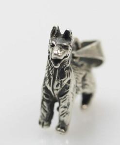Feiner 925er Silberanhänger Motiv Schäferhund – Bild 3