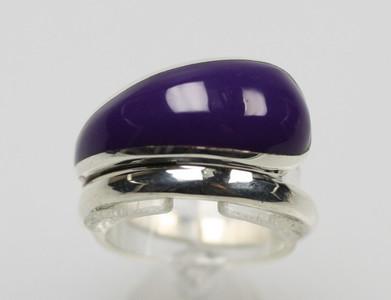 925er Silberring purple – Bild 1