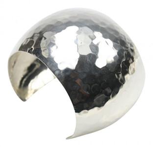 Breite gehämmerte mexikanische 925er Silberarmspange – Bild 1