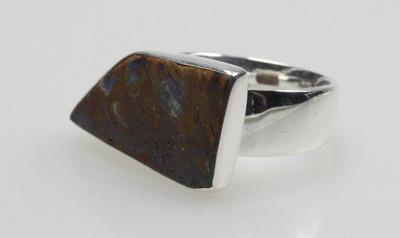 Besonderer 925er Silberring mit Boulderopal – Bild 3