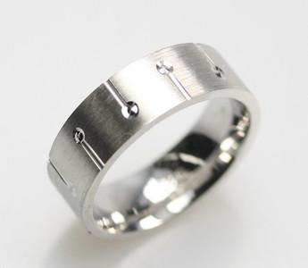 Eleganter mattierter Ring aus 925er Sterlingsilber – Bild 2