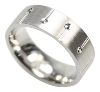 Eleganter mattierter Ring aus 925er Sterlingsilber – Bild 1