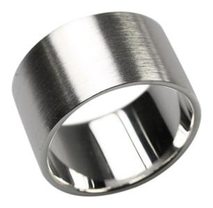 Bildschöner 12 mm breiter mattierter 925er Silberring  – Bild 1