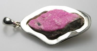 Wunderschöner Kobalt Calzit 925er Silberanhänger – Bild 2