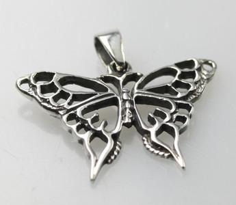 Filligraner 925er Silberanhänger Schmetterling – Bild 1