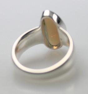 Polierter 925er Silberring mit Opal – Bild 4