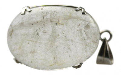 Interessanter 925er Silberanhänger mit Rutilquarz – Bild 1