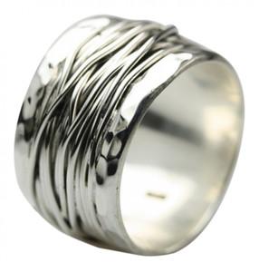 Breiter besonderer 925er Silberring – Bild 1
