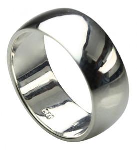 Bildschöner abgerundeter 925er Silberring 9 mm – Bild 1