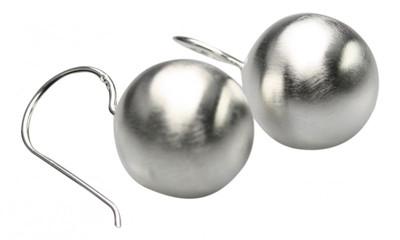 Mattierte edle 925er Silberohrringe – Bild 1