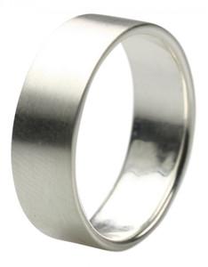 Mattierter Bandring aus 925er Silber 7 mm edel und schlicht  – Bild 1