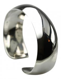 Elegante massive polierte 925er  Silberarmspange  – Bild 2