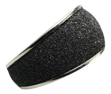 Eleganter 925er Silberring mit funkelnder Lava – Bild 1