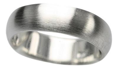 Edler abgerundeter mattierter 925er Silberring – Bild 1