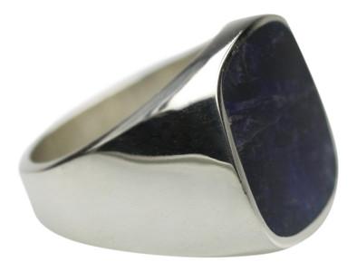 Edler Siegelring aus 925er Silber mit Sodalith – Bild 2