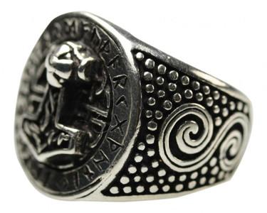 925er Silberring Thors Hammer – Bild 1