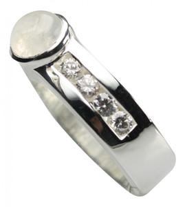 925er Silberring mit Mondstein und Zirkonia – Bild 2
