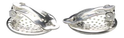 Elegant funkelnde 925er Silber Ohrclips – Bild 2