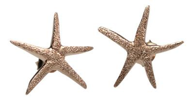 Vergoldete Seestern Ohrstecker aus 925er Silber – Bild 2