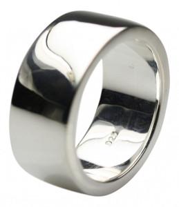 Massiver hochwertiger Bandring aus 925er Silber – Bild 1