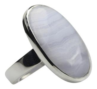 Auffallender 925er Silberring mit Chalcedon – Bild 2