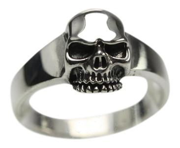 Feiner Totenkopfring aus 925er Silber  – Bild 1