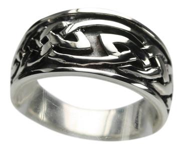 925er Silberring keltischer Knoten – Bild 1