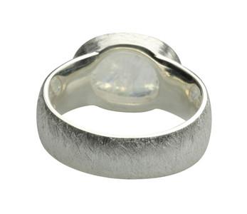 Eleganter Ring mit Mondstein aus 925er Silber – Bild 3