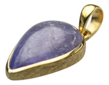 Edler vergoldeter 925er Silberanhänger mit Tansanit – Bild 1