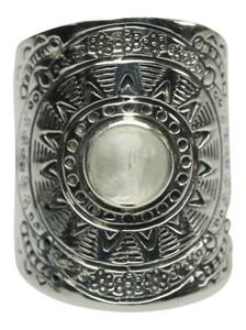 Besonderer 925er Silberring mit Mondstein – Bild 1