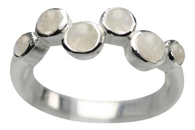 Feiner 925er Silberring mit Mondstein – Bild 1