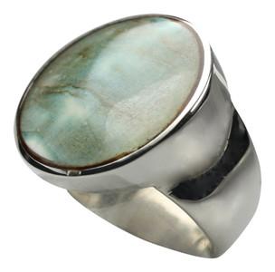 Eleganter 925er Silberring mit Muschel – Bild 3