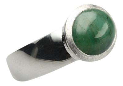 Polierter 925er Silberring mit edlem Smaragd – Bild 3