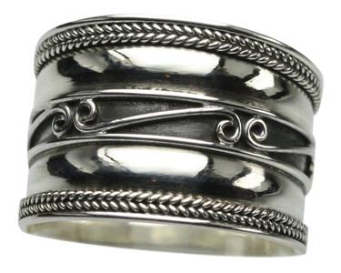 Filigraner breiter 925er Silberring – Bild 1