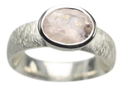 925er Silberring mit edlem Morganit – Bild 1