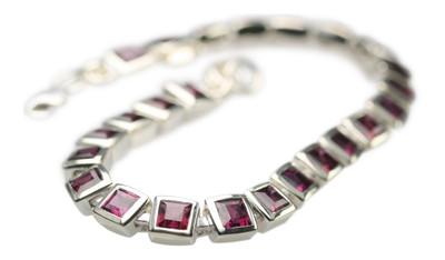 Elegantes 925er Silberarmband mit Rhodolith Granat – Bild 2