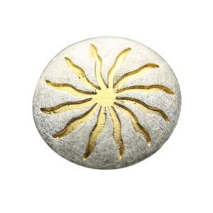 Zauberhafter teilvergoldeter Ring aus 925er Silber – Bild 2