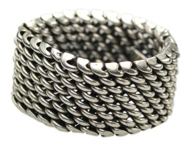 11mm breiter beweglicher 925er Silberring – Bild 1
