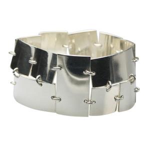Extravagantes 925er Silberarmband, sehr massiv, 18,5 cm – Bild 1