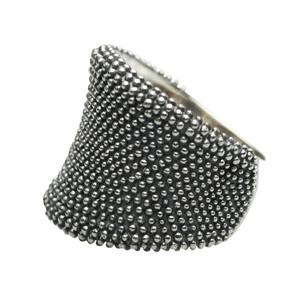 Formschöner geschwärzter 925er Silberring – Bild 1