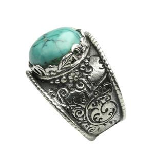 Besonderer 925er Silberring mit Türkis – Bild 3