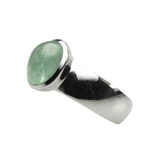 925er Silberring mit ovalem Smaragd – Bild 2