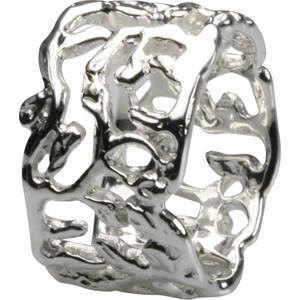 Breiter polierter Silberring, feines Design – Bild 1