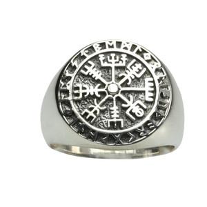 925er Silberring Wikinger Kompass – Bild 1